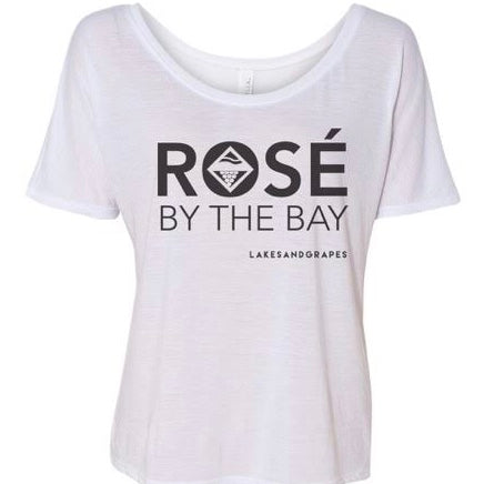 Rosé By The Bay Women's Slouchy Tee - White