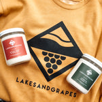 Lakes and Grapes hand poured soy candles.