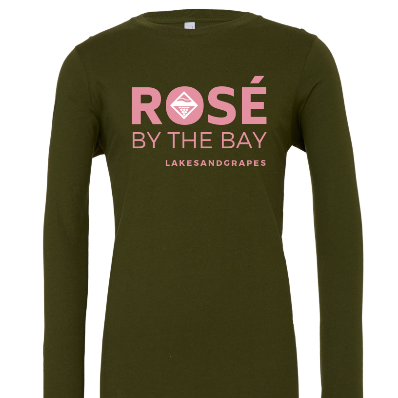 Rosé By the Bay Long Sleeve - Military Green