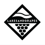 Lakes and Grapes Big Lake Diamond Sticker - Black