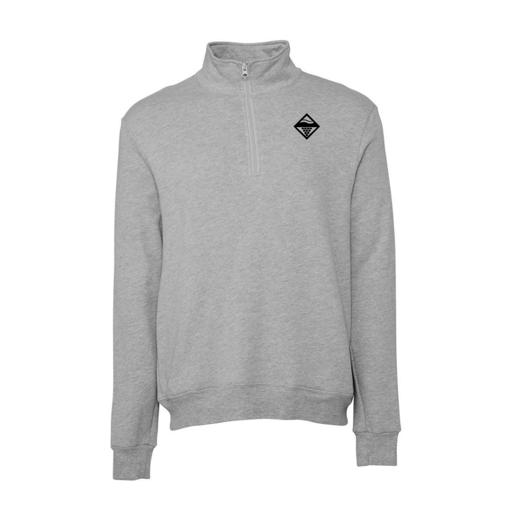 Diamond Quarter Zip - Grey