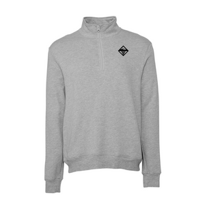 Load image into Gallery viewer, Diamond Quarter Zip - Grey