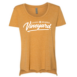 Women's Vineyard Scoop Tee  - Gold