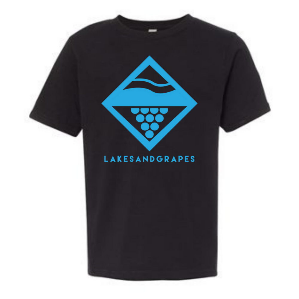 Lake Diamond Youth Tee - Black