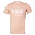 Unisex Rosé By The Bay Tee Peach soft touch, high quality, comfortable fit