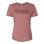 The Women's Rosé by the Bay Tee- Mauve is perfect for your next Wine Tour in Traverse City