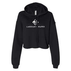 Load image into Gallery viewer, Women's Classic Cropped Hoodie - Black