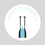 Lakes and Grapes Paddle Sticker