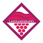 Lakes and Grapes Small Lake Diamond Sticker - Pink