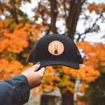 Paddle Leather Patch Snapback Hat - Black