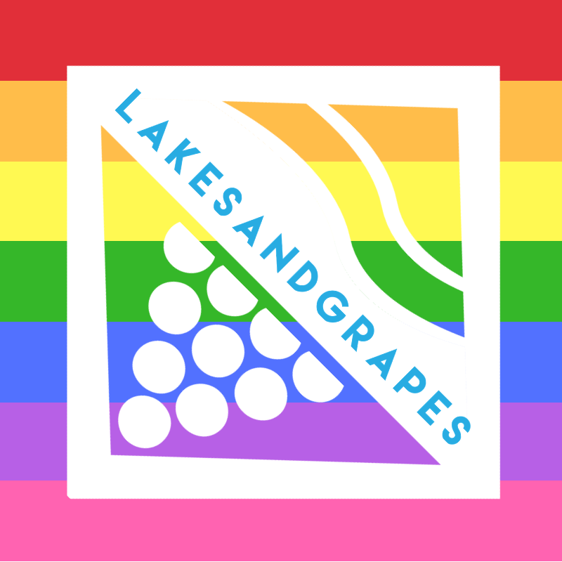 Lakes and Grapes Pride Sticker