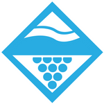 Lakes and Grapes Lake Diamond Sticker - Blue