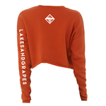 Women's Cropped Sweatshirt - Brick