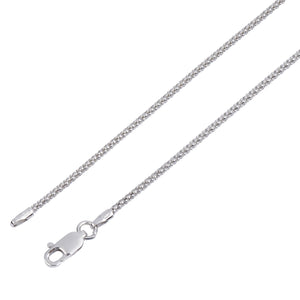 "Popcorn Chain 28"" 1.6mm Sterling Silver"