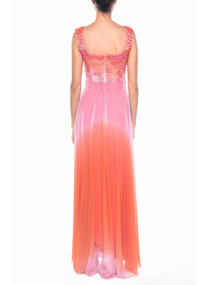 Floor Length Square Neck Gown