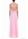 Floor Length Cross Back Gown