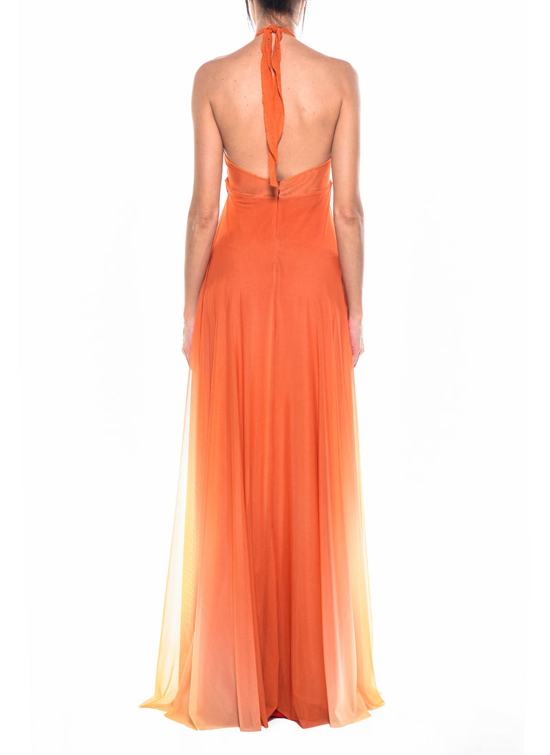 Floor Length Cross Front Gown