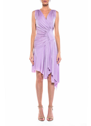 Knee Length Double V-Neck Dress