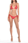 Croc Red Triangle Bikini
