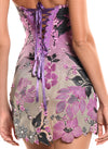 Mini Length Strapless Corset Tie Back Dress - D0801C - BOTANICA