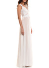 Floor Length Double V-Neck Gown - D0962WA - BOTANICA