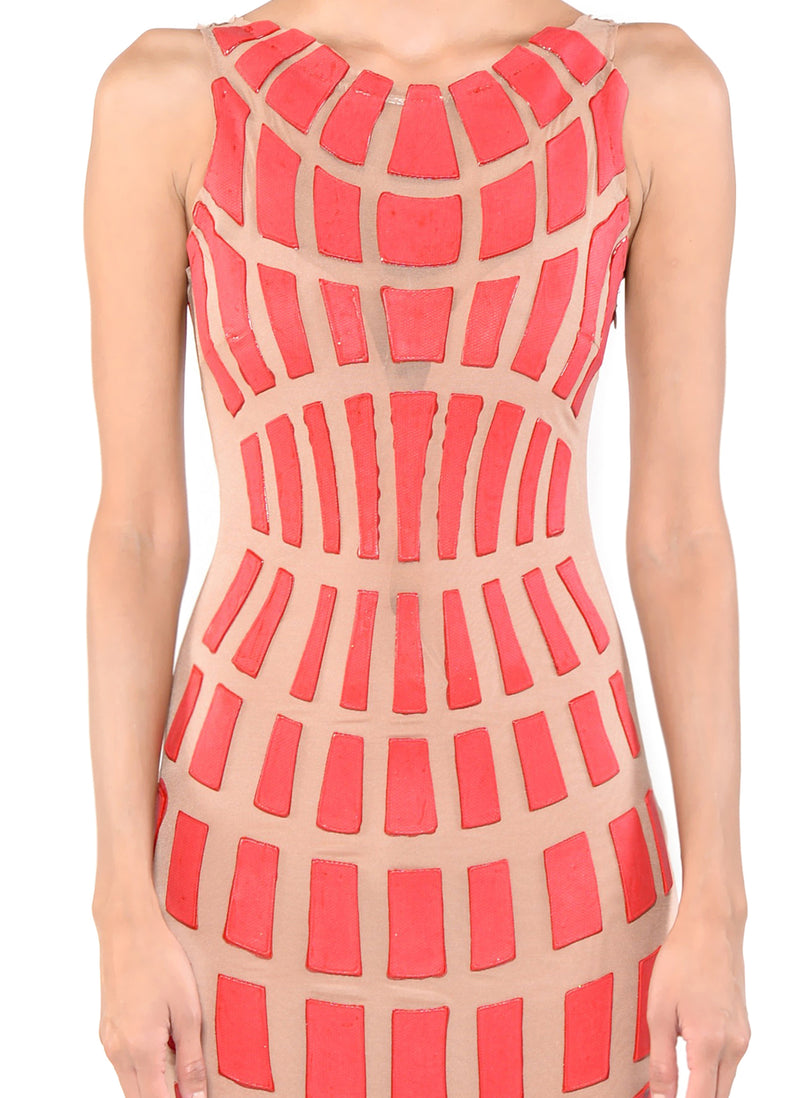 Knee Length Racerback Dress - D1114B - SC Squares