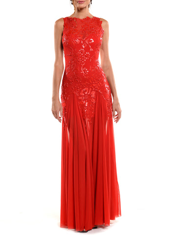 High-Low Length Asymmetrical Jewel Neck Dress - D1114A - ASYMMETRICAL NAIAD