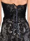 Mini Length Strapless Corset Lace Back Dress - D1223C - MYSTIQUE