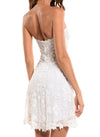 Mid Length Strapless A-Line Corset Zip Back Dress - D1223D - AL ENGLISH GARDEN