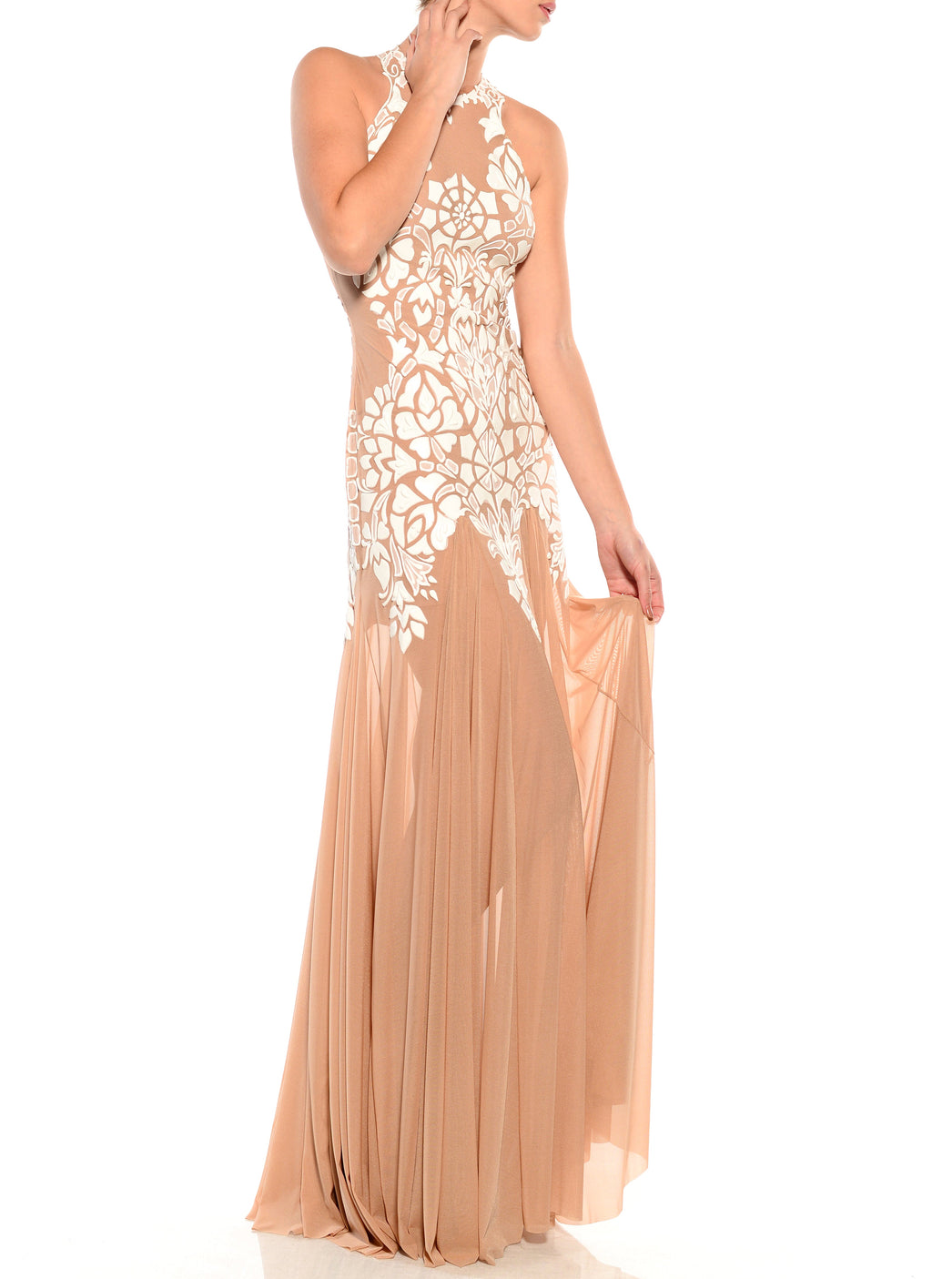 Floor Length Racerback Dress