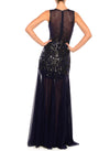 Floor Length V-Neck Gown - D1623CA - AURORA