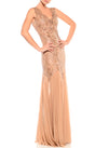 Floor Length V-Neck Gown