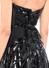 Floor Length Strapless Corset Zip Back Gown - DG1850A - ZAHA