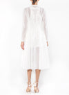 Knee Length Duster/Cover Up - DG1899B - IVORY