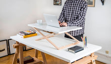 Desk Riser - light and mobile. Turn any surface to standing desk!