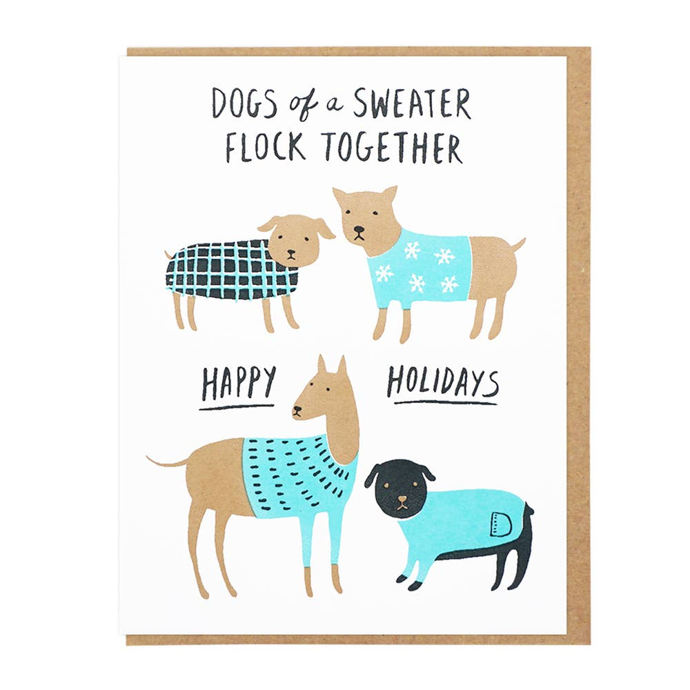 Dogs Of Sweater Card