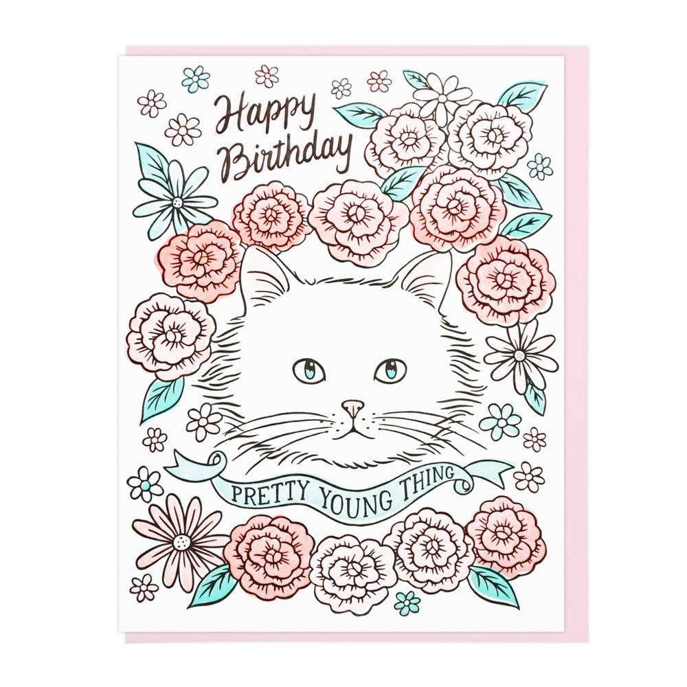 Pretty Young Thing Birthday Card