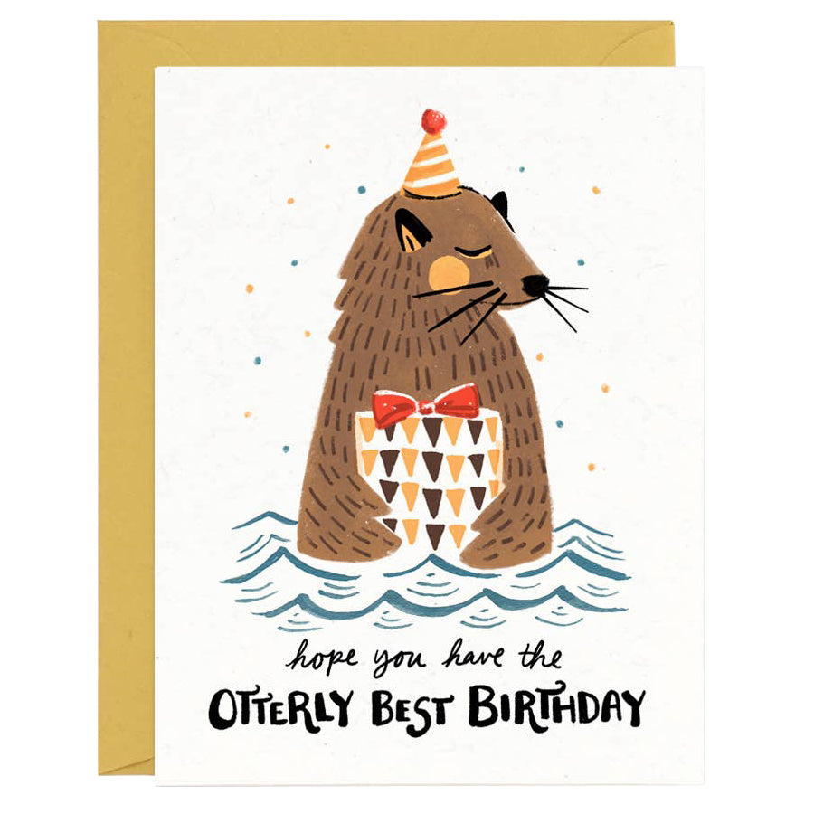 Otterly Best Birthday Card