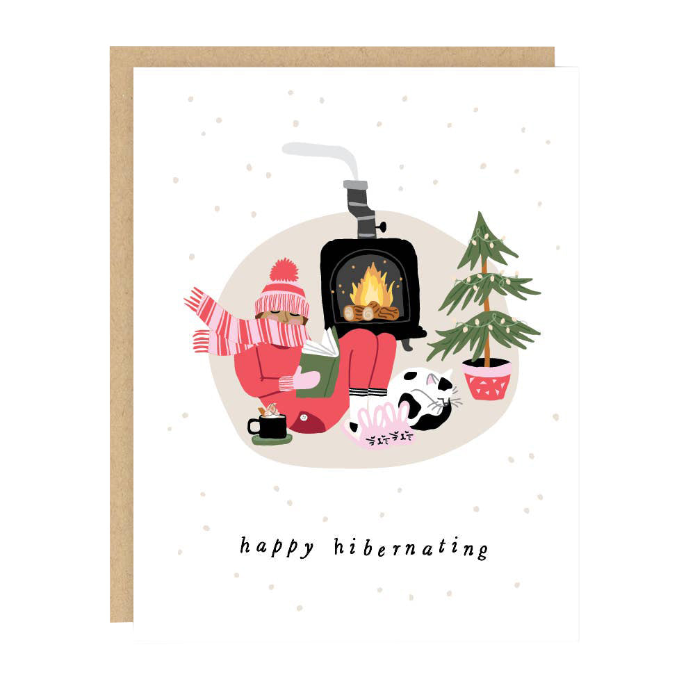 Hibernating Holiday Card