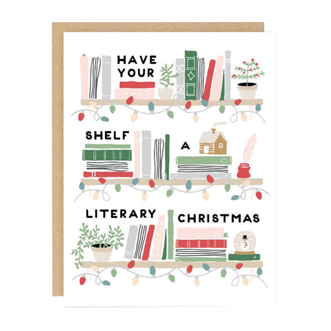 Literary Christmas Holiday Card