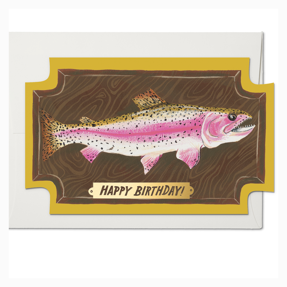 Mounted Fish Card