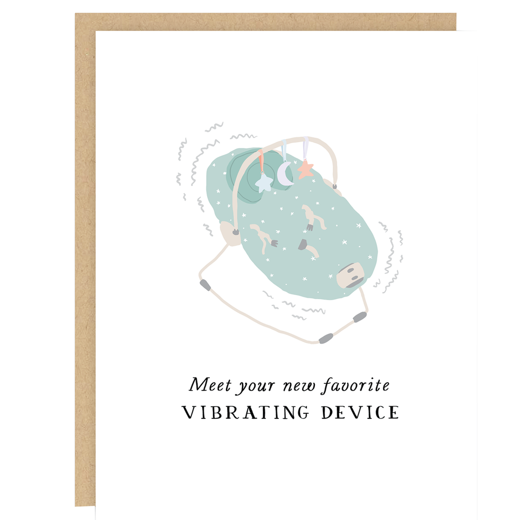 Vibrating Device New Baby Card