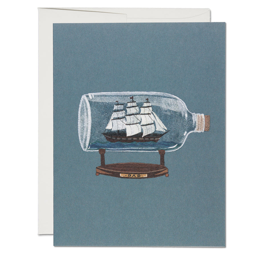 Ship In A Bottle Card