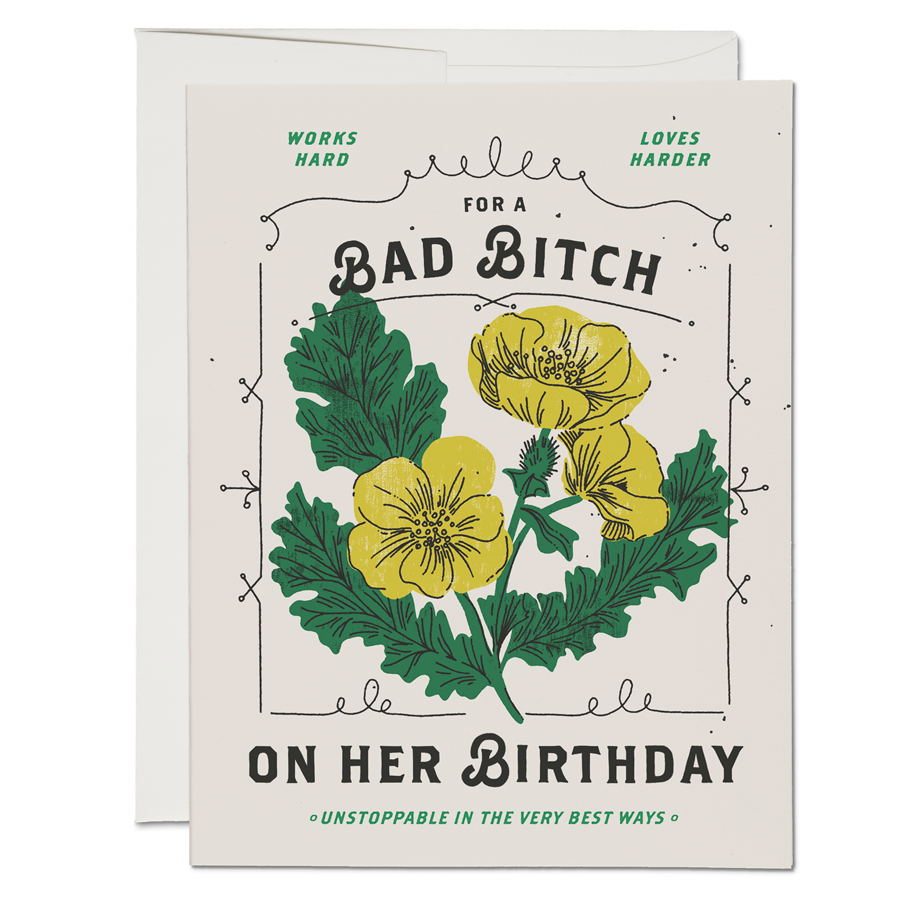 Bad Birthday Bitch Card