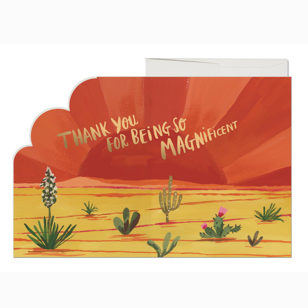 Magnificent Thanks Card