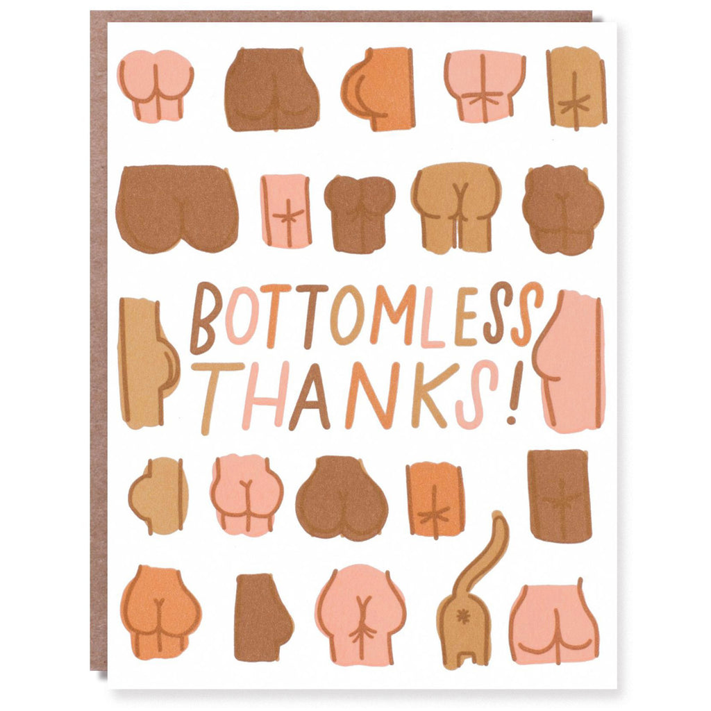 Bottomless Thanks Card