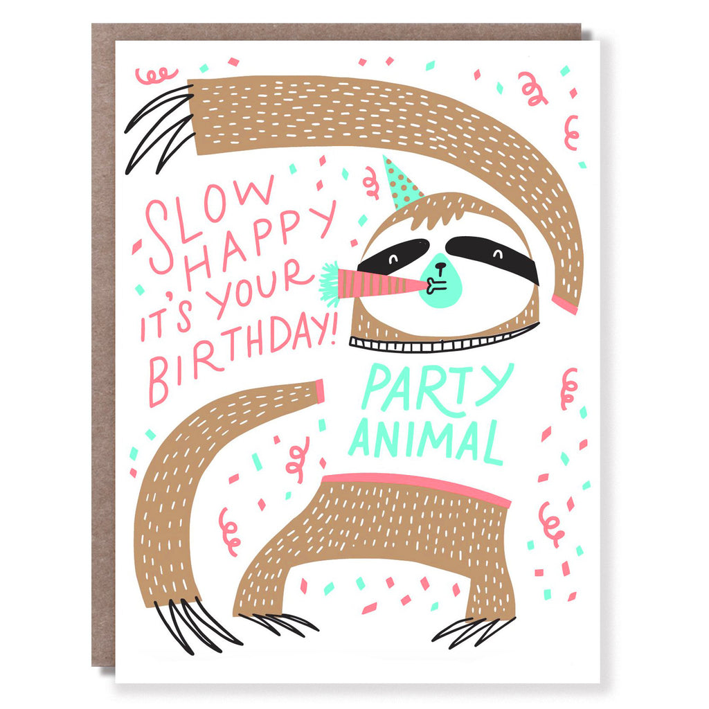 Slow Birthday Card