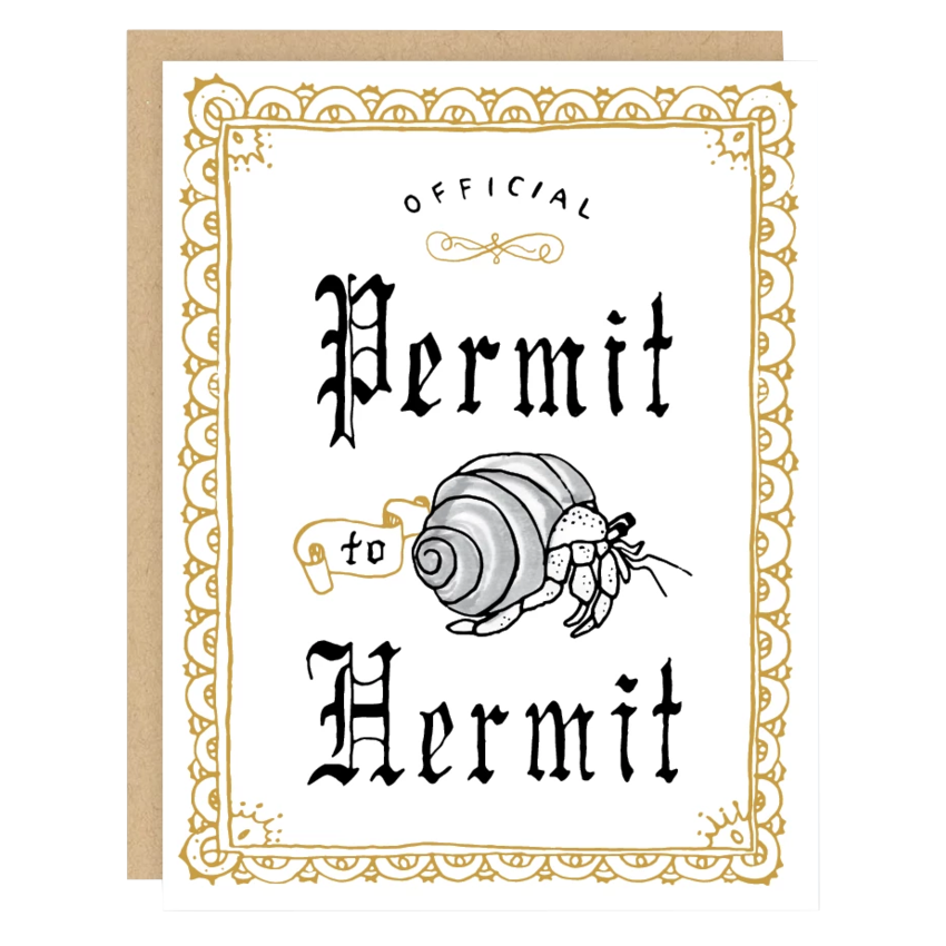 Permit to Hermit Card