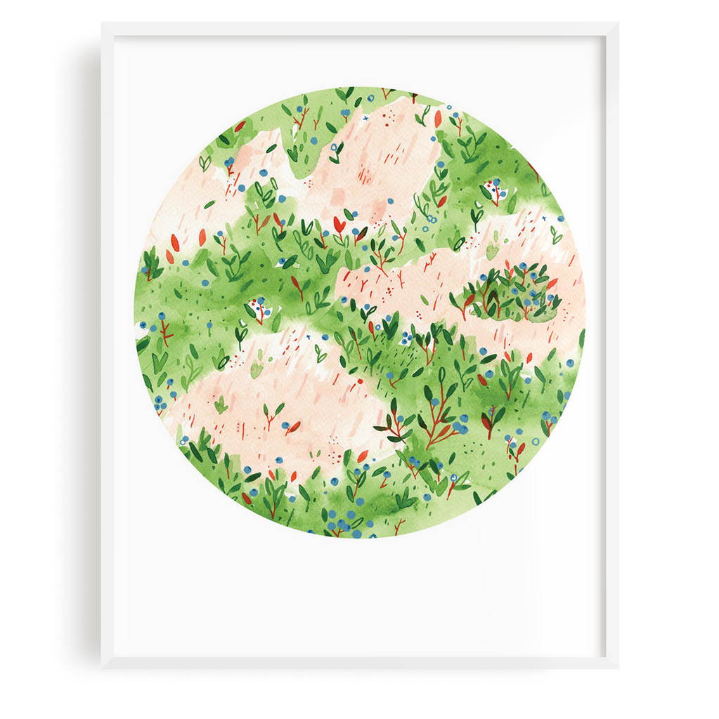 Blueberry Field Print