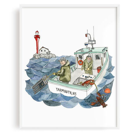 Lobster Fishing Print